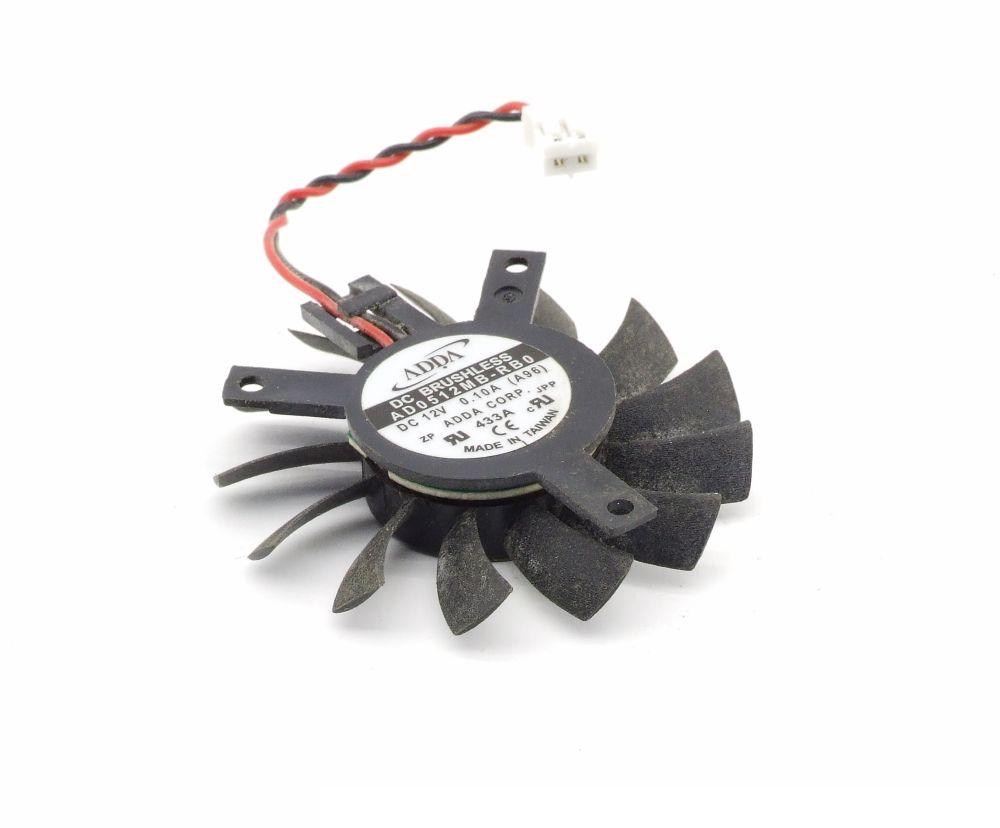 ADDA AD0512MB-RB0 45mm ATI Graphics Card Fan Grafikkarten-Lüfter 12V 0.10A 2-Pin 4060787293749