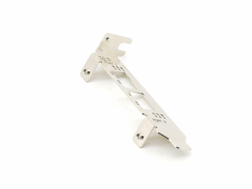 Purcell Half Height Low Profile Dual Port Slot Bracket Blech Blende P1286-0003M 4060787299376