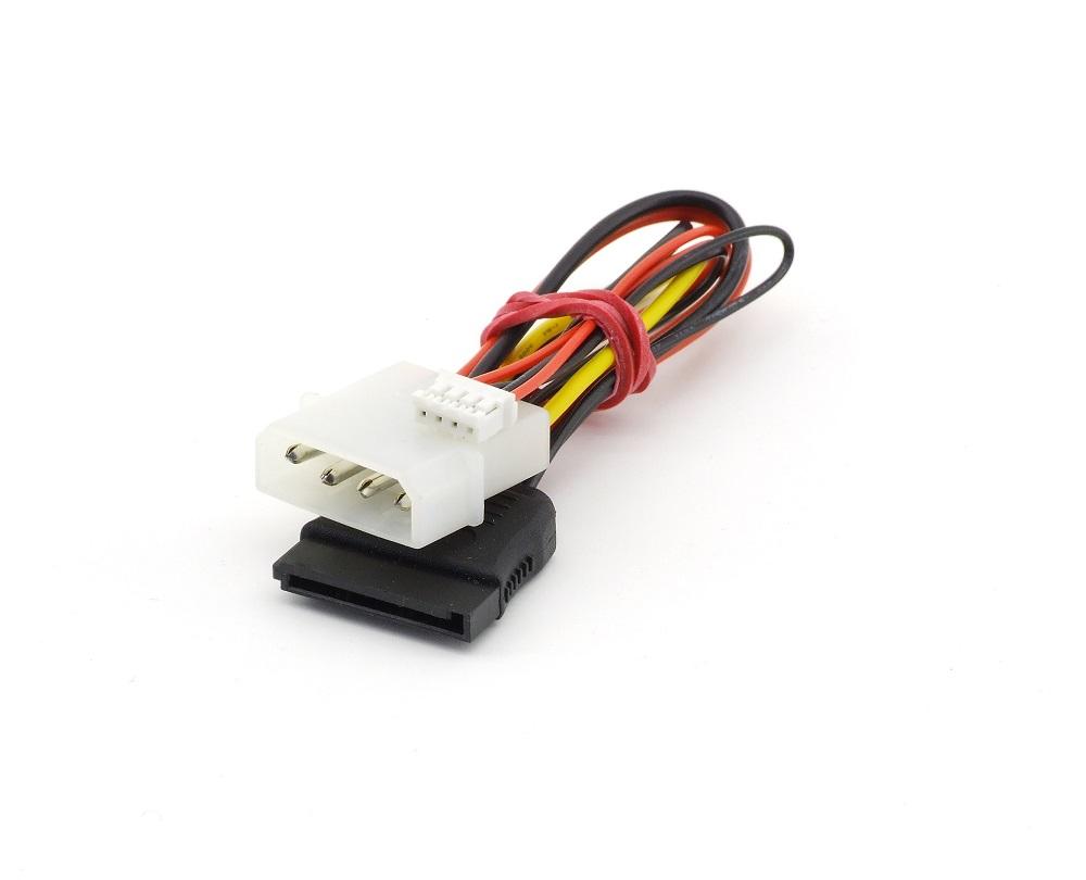4-Pin Molex to 15-Pin SATA Serial ATA + 4-Pin 5V Strom Kabel Power Cable 12cm 4060787300560