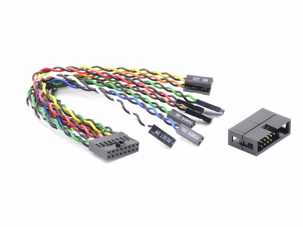 Supermicro Front Panel 16-Pin Split Cable Power LED Reset Switch Kabel 16-polig 4060787300607