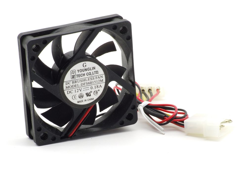 Younglin DFS601512M 60x60x15mm Cooling Fan 60mm CPU Lüfter DC 12Volt 0.18A Molex 4060787300942