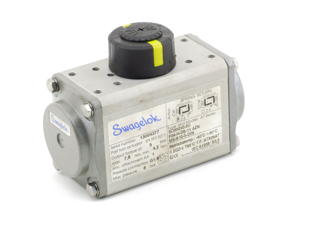 Swagelok AT Series Aktuator F04-N-DS-11 AZN 8bar G1/8 SC00010-5U MS-A10-5-DIN 4060787301512