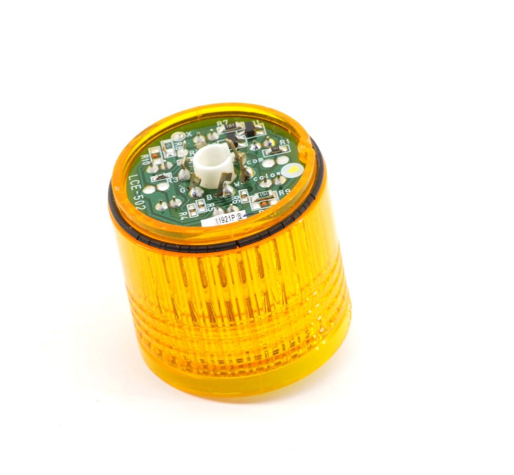 Patlite 11921P Signalelement Gelb 40mm Stack Light Yellow Signal Säule Tower LCE 4060787307248