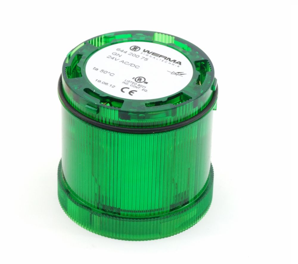 Werma 64420075 LED Dauerlicht Grün 70mm Signal Element Light Green 24V AC/DC 7W 4060787307279