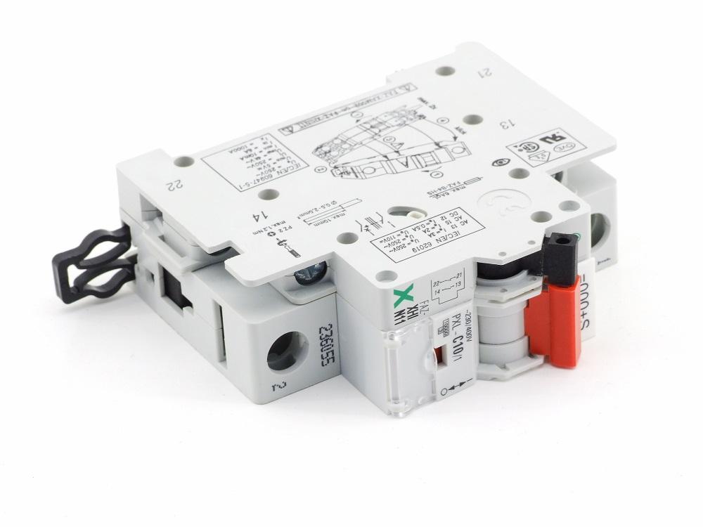 Eaton PXL-C10/1 Leitungsschutz-Schalter 10A mit Hilfsschalter FAZ-XHIN11 1Ö+1S 4015082360559