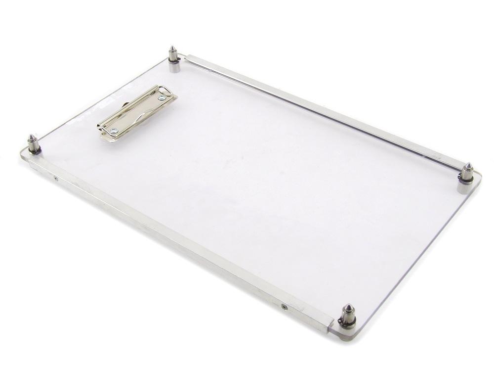 Industrie Plexiglas Klemmbrett A4 stapelbar Stackable Clipboard 390mm x 239mm 4060787314420