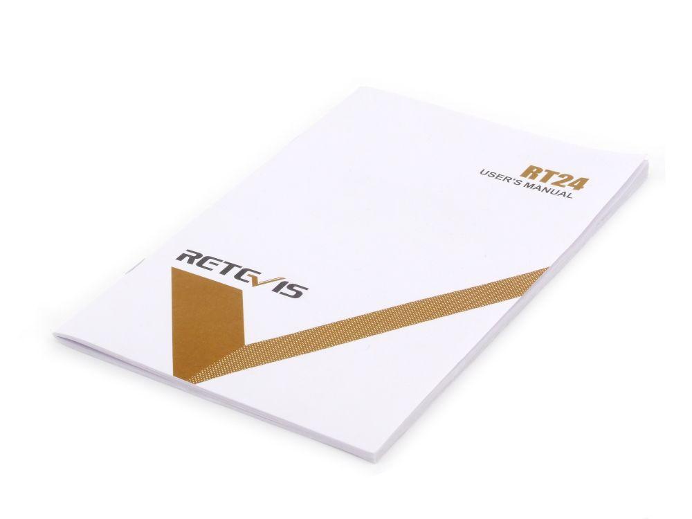 Retevis RT24 User User's Manual Benutzer-Handbuch Anleitung ENG GER FRA ITA SPA 4060787316004