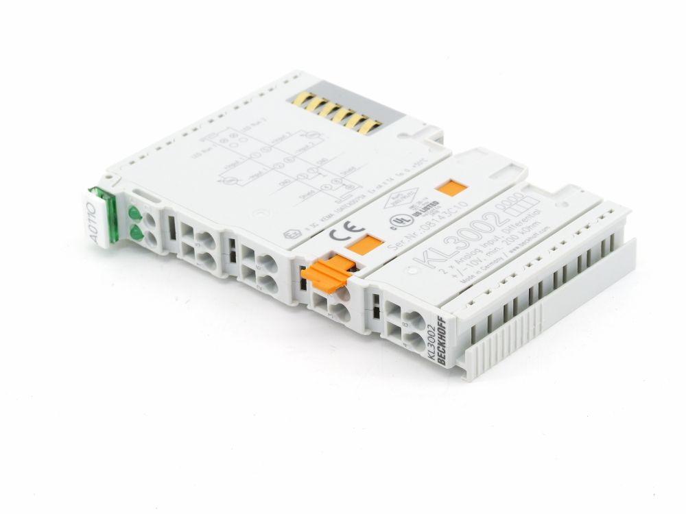 Beckhoff KL3002 2-Channel Analog Input Terminal Eingangs-Klemme min. 200 kOhm 4060787317926
