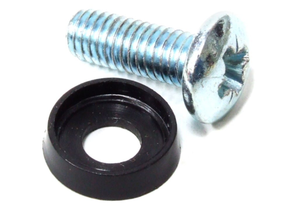 2x M6 Rack Mount Screws with Rubber Washers / Schrauben m/ Scheibe Ø5.80x20mm 4060787110084