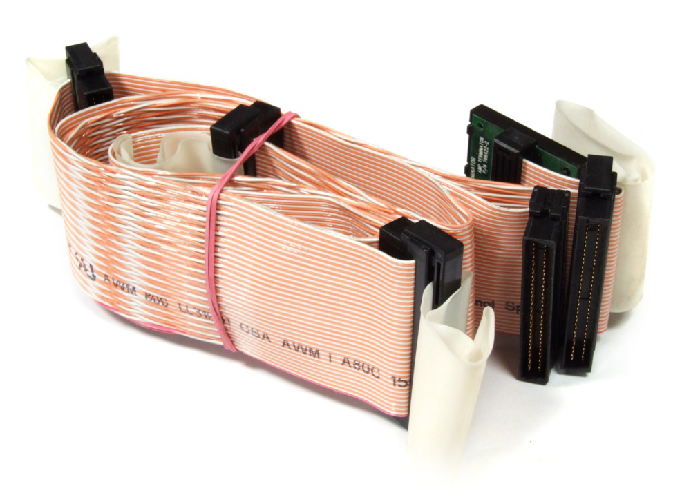 90cm HDD SCSI 68-Pin 5-Connector w/ Terminator Flat Ribbon Cable Flachband-Kabel 4060787162427