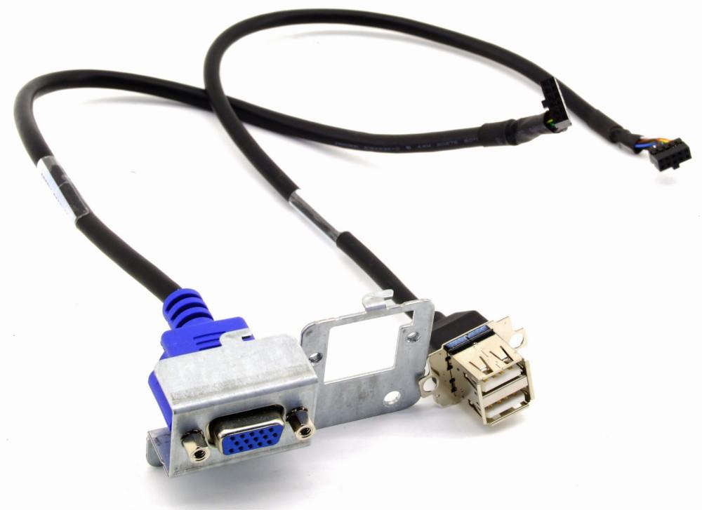 HP 404807-001 Front Panel Bracket USB VGA Dual Port Cable Assembly Blende Kabel 4060787275561