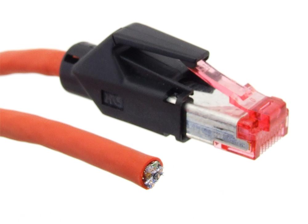 DRAKA UC900 Super Screen 27 4x2xAWG27 Netzwerk Patch Kabel Rot Data Cable Red 2m 4060787282569