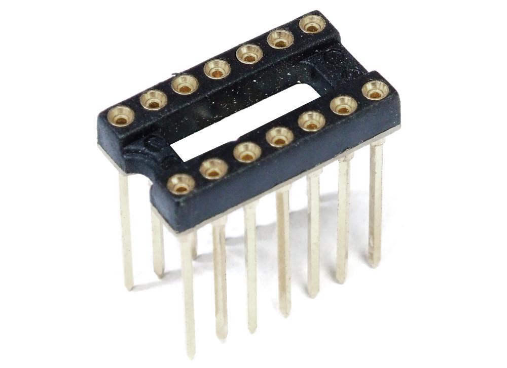 DIP-14 DIL-14 IC Precision Socket Turned Präzisions-Sockel Gedreht High Form PCB 4060787298683