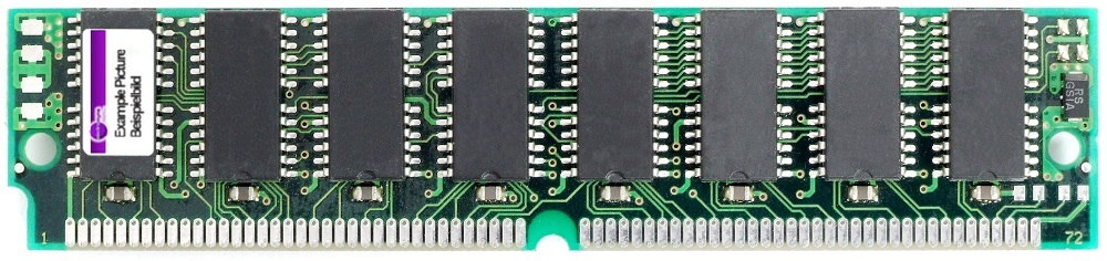 16MB PS/2 EDO SIMM RAM Single Sided 60ns non-Parity 4Mx32 72Pin 5V VG2617405CJ-6 4060787302199