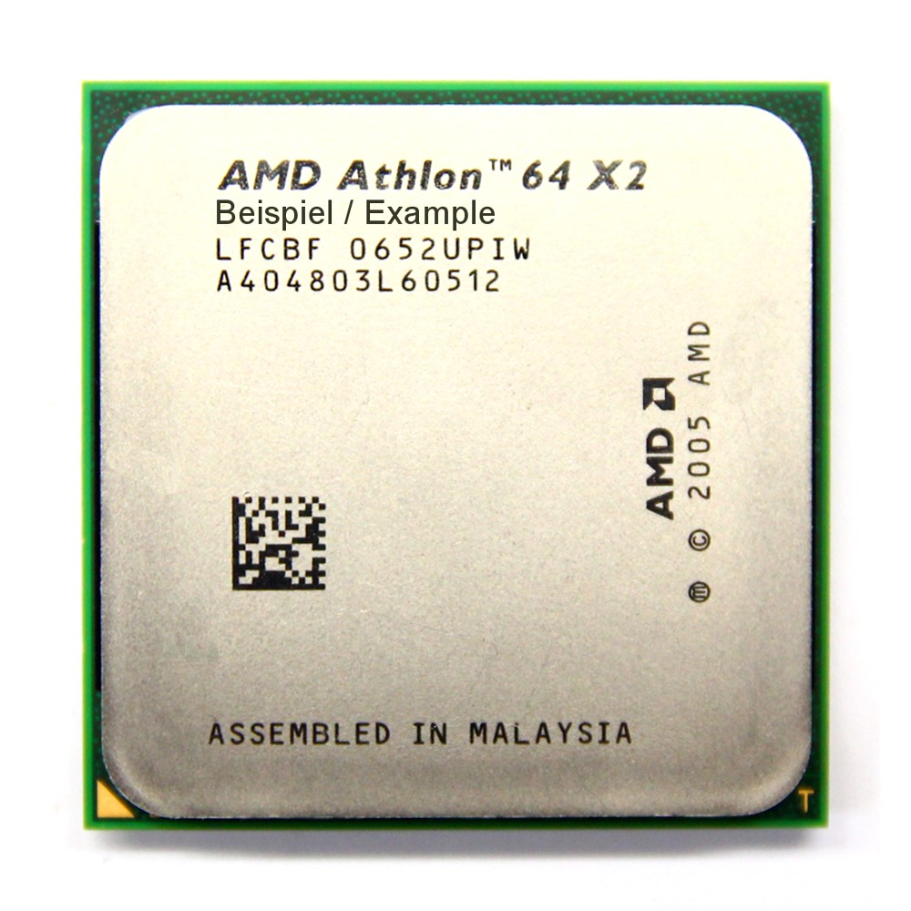 AMD Athlon 64 X2 4000+ 2.1GHz/1MB Sockel/Socket AM2 ADO4000IAA5DD Processor CPU 4060787015044