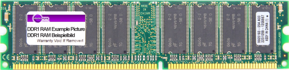 512MB MDT DDR1 RAM PC3200U 400MHz CL2.5 2Bank 256M Chip (32x8) DIMM M512-400-16 4060787002044