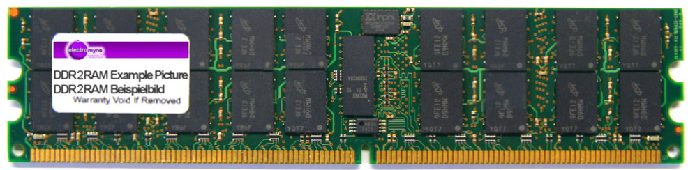2GB Qimonda DDR2-667 PC2-5300P 2Rx4 ECC Reg RAM HYS72T256220HP-3S-B 371-1764-01 4060787019080