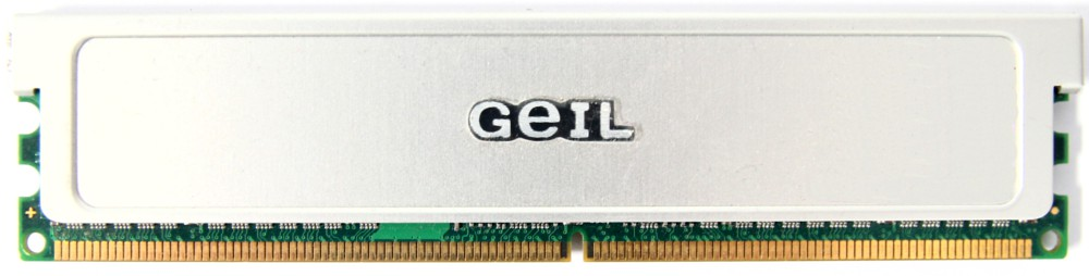 2GB Kit (2x1GB) GeIL DDR2-667 RAM PC2-5300U GX22GB5300LDC Heatspreader Memory 4060787296528