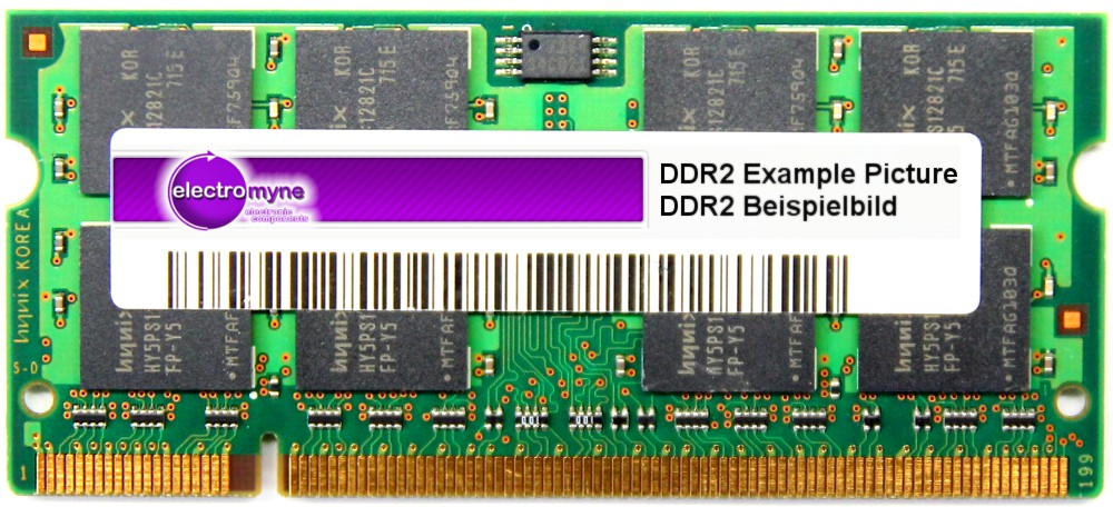1GB Aeneon DDR2 Laptop RAM PC2-5300S-555 667MHz CL5 200p SO-DIMM AET760SD00-30D 4060787024206