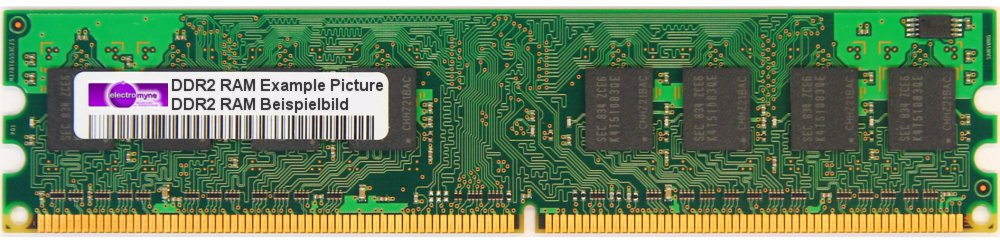 256MB Micron DDR2 RAM PC2-4200U 533MHz CL4 MT4HTF3264AY-53EB2 HP P/N: 355949-888 4060787011824