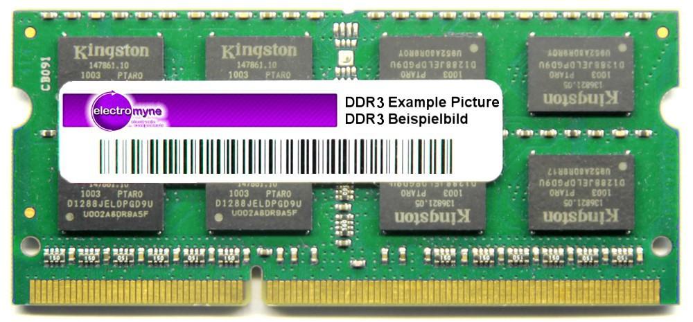 2GB Micron DDR3 RAM PC3-8500S 1066MHz CL7 2Rx8 SODIMM MT16JSF25664HZ-1G1F1 4060787273444
