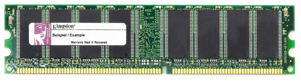 2GB Kit (2x1GB) Kingston DDR1 RAM PC3200U 400MHz CL3 Fujitsu Memory KFJ-E600/2G 4060787000736