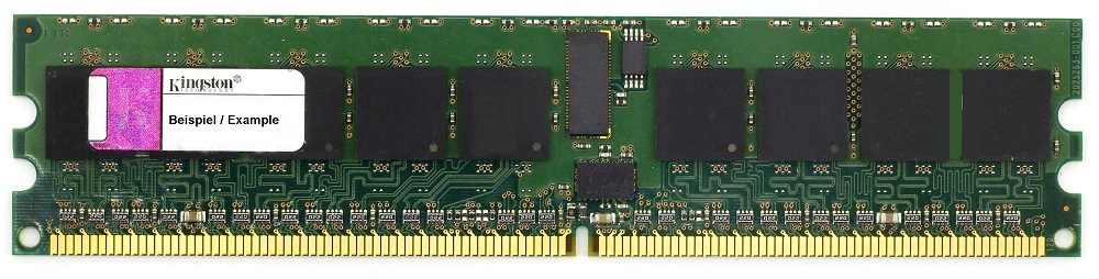 4GB Dual Rank Kit (2x2GB) Kingston DDR2 PC2-3200R 400MHz ECC Reg RAM KTM2865/4G 4060787272409