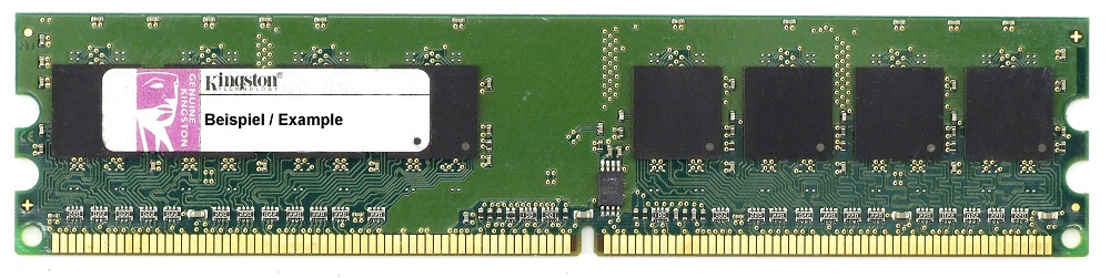 2GB Kit (2x 1GB) Kingston DDR2 Desktop RAM PC2-3200U 400MHz CL3 KVR400D2N3K2/2G 4060787268983