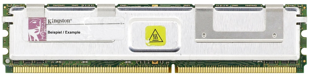 2GB Kingston DDR2-667 PC2-5300F 2Rx4 ECC FB-DIMM RAM KVR667D2D4F5/2GI memory 4060787273154