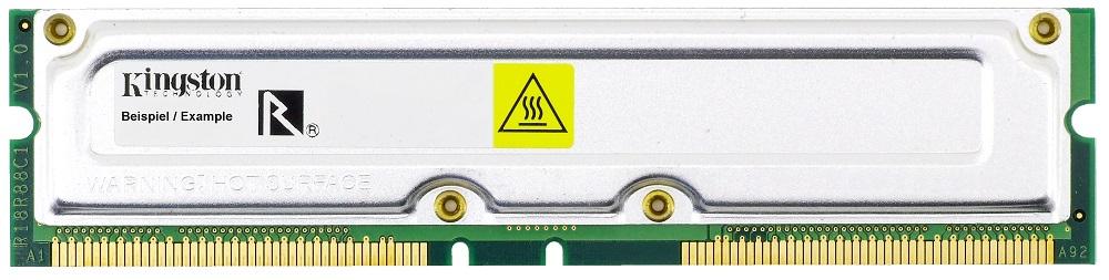 256MB Kingston non-ECC RDRAM PC800 800MHz KVR800X16-16/256 RIMM Rambus Memory 4060787037282