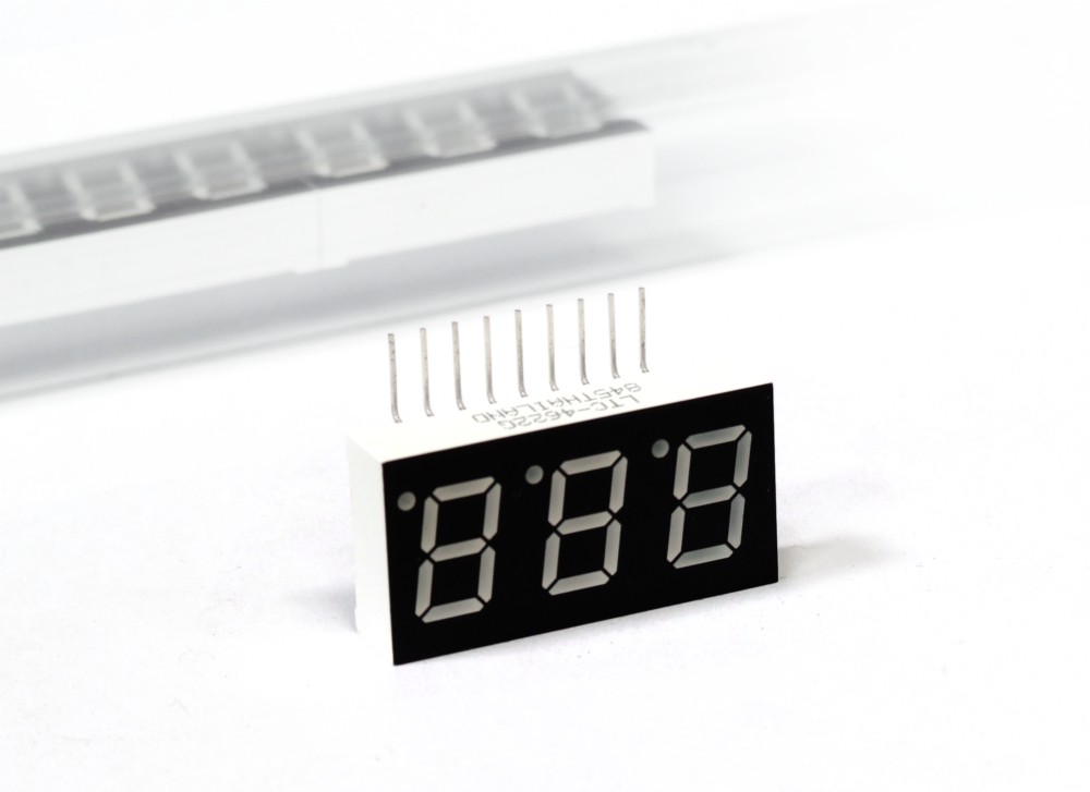 Triple Digits 7-Segment LED Display Green / Anzeige Grün 9 Pin LiteOn LTC-4622G 4060787071774