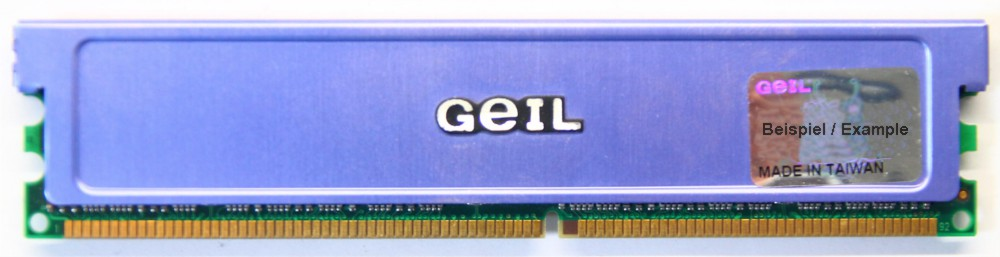1GB GeIL Dual Channel Kit DDR1-400 RAM PC3200U CL2.5 GE1GB3200BDC 2x512MB Memory 4060787006011