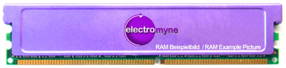 2GB Kit (2x1GB) CnMemory DDR1 RAM PC3200U 400MHz CL3 Heatspreader Cooler Memory 4060787021090
