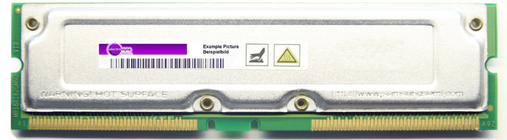 256MB Samsung non-ECC RDRAM PC800-45 800MHz MR16R082GBN1-CK8 RIMM Rambus Memory 4060787037190