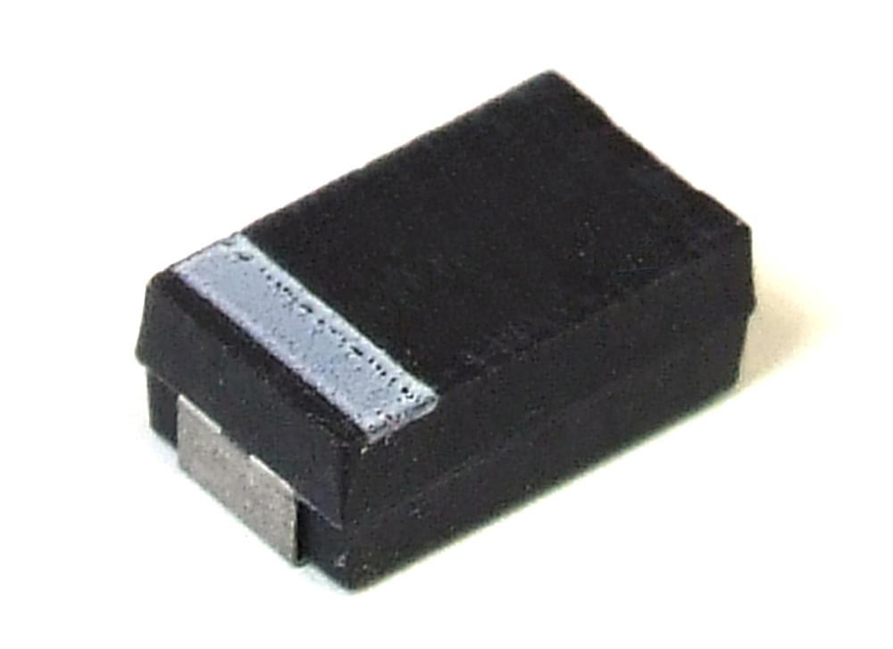 Tantalum Capacitor Tantal Kondensator SMD 47µF 10/% 25V Case D 5 Stück